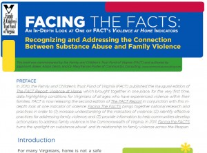 2011 FACT ISSUE Brief — Recognizing and Addressing the Connection Between Substance Abuse and Family Violence (pdf)