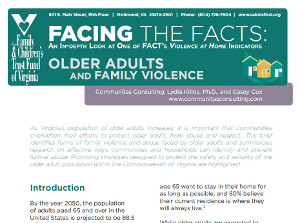 2013 FACT Issue Brief — Older Adults and Family Violence (pdf)